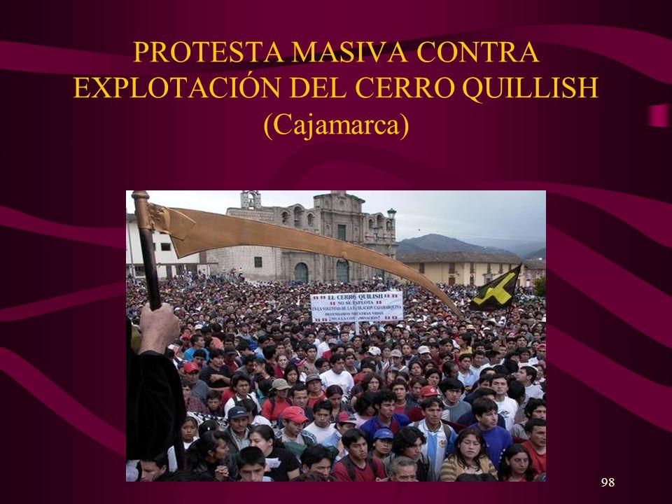PROTESTA MASIVA CONTRA EXPLOTACIÓN DEL CERRO QUILLISH (Cajamarca)