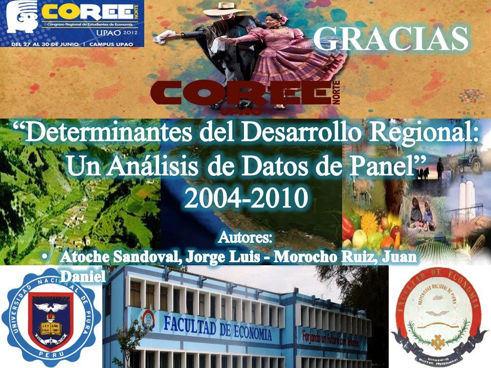 GRACIAS Determinantes del Desarrollo Regional: