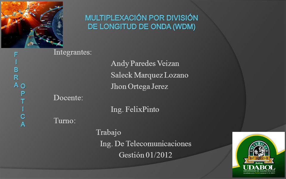 Multiplexación por división de longitud de onda (WDM)