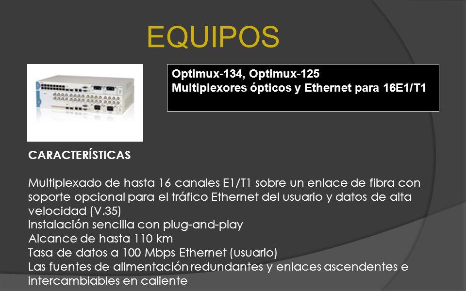 EQUIPOS Optimux-134, Optimux-125