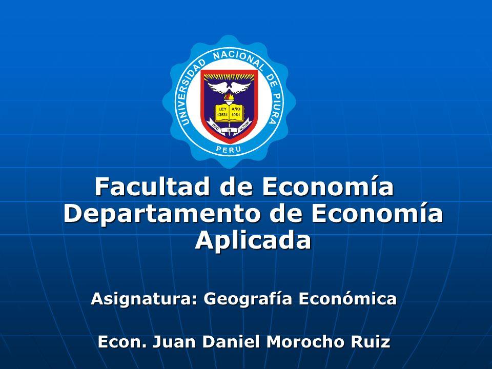 Facultad de Economía Departamento de Economía Aplicada