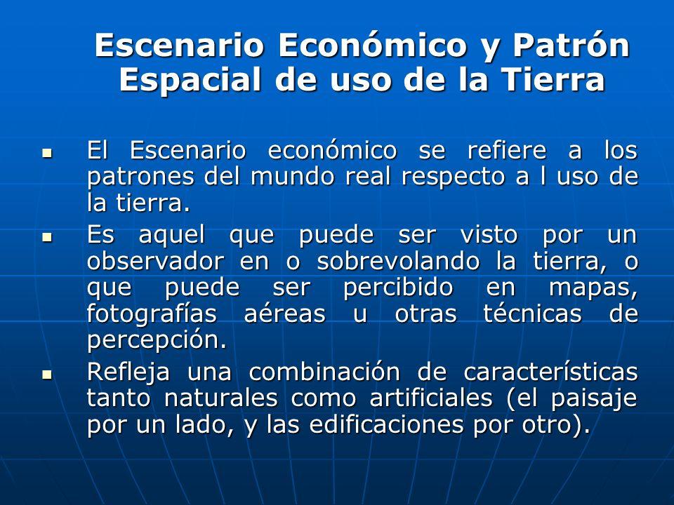 Escenario Económico y Patrón Espacial de uso de la Tierra