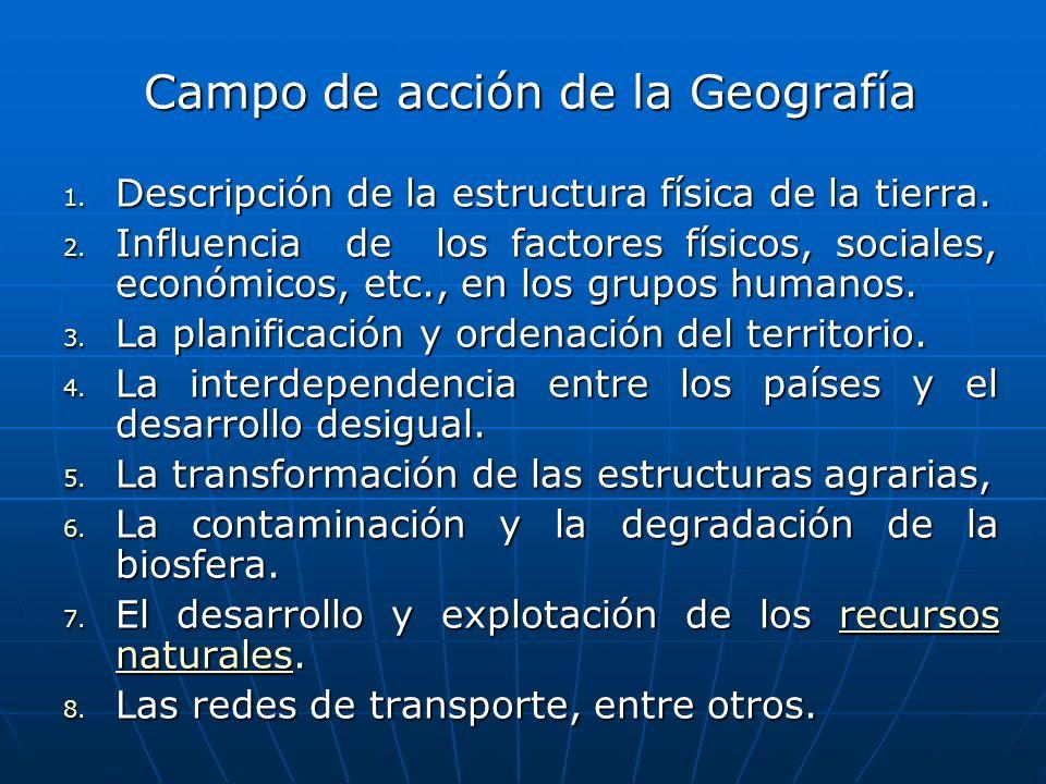 Campo de acción de la Geografía