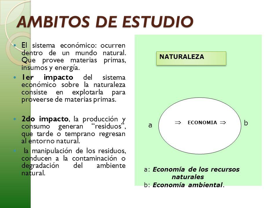 AMBITOS DE ESTUDIO  ECONOMIA  NATURALEZA.