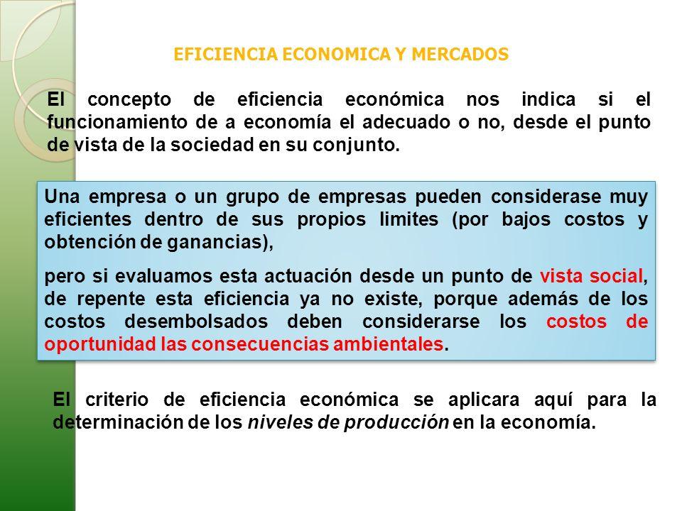 EFICIENCIA ECONOMICA Y MERCADOS