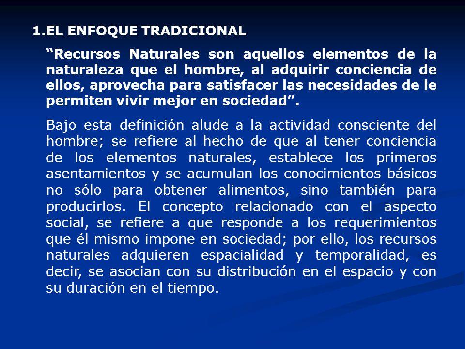 1. EL ENFOQUE TRADICIONAL