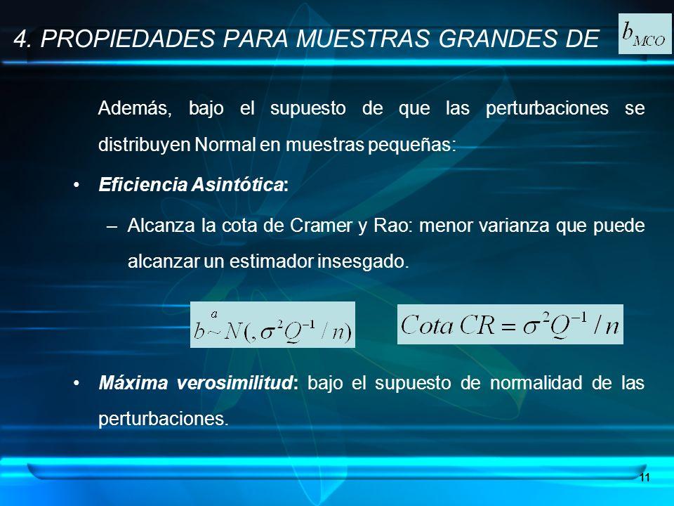 4. PROPIEDADES PARA MUESTRAS GRANDES DE