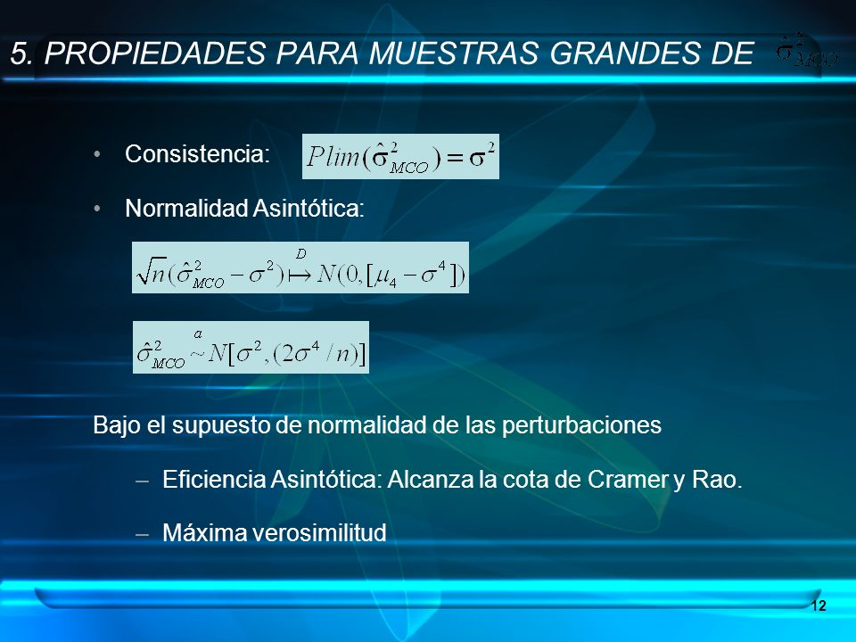 5. PROPIEDADES PARA MUESTRAS GRANDES DE