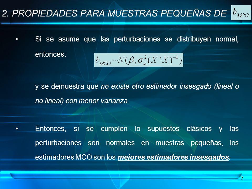 2. PROPIEDADES PARA MUESTRAS PEQUEÑAS DE