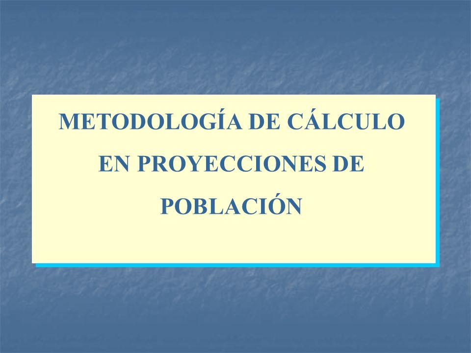 METODOLOGÍA DE CÁLCULO EN PROYECCIONES DE POBLACIÓN