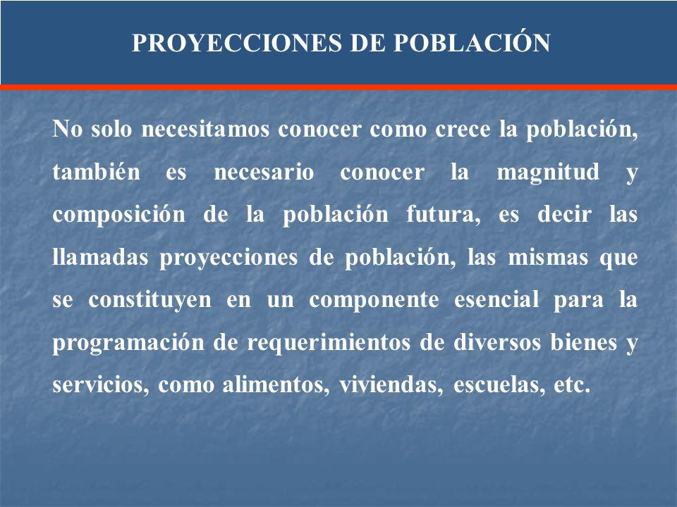 PROYECCIONES DE POBLACIÓN
