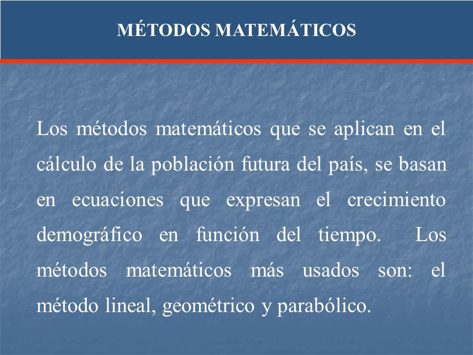MÉTODOS MATEMÁTICOS