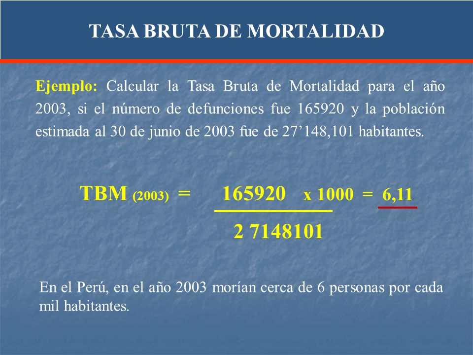 TASA BRUTA DE MORTALIDAD