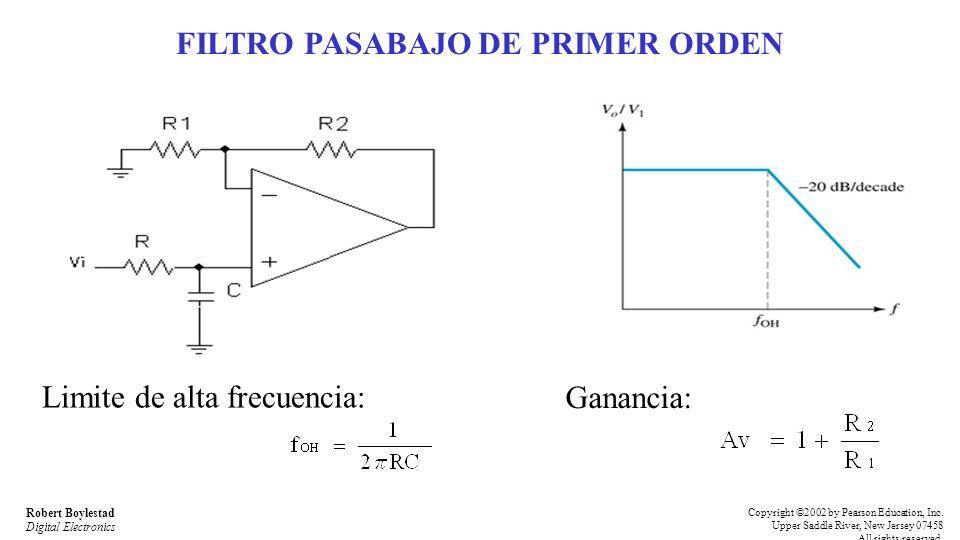 FILTRO PASABAJO DE PRIMER ORDEN