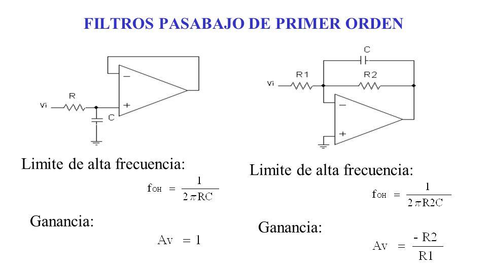 FILTROS PASABAJO DE PRIMER ORDEN