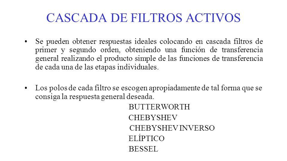 CASCADA DE FILTROS ACTIVOS
