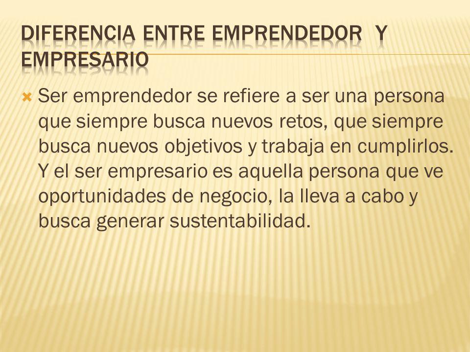 Diferencia entre emprendedor y empresario