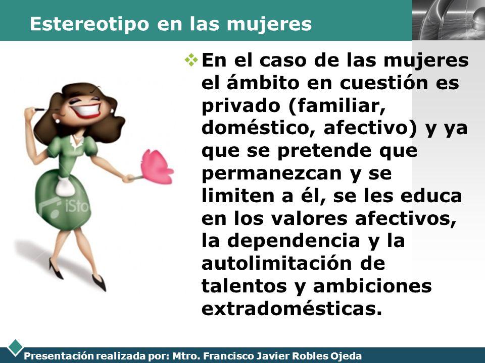 Estereotipo en las mujeres