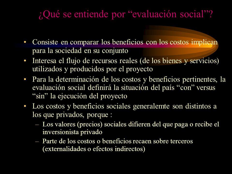 ¿Qué se entiende por evaluación social