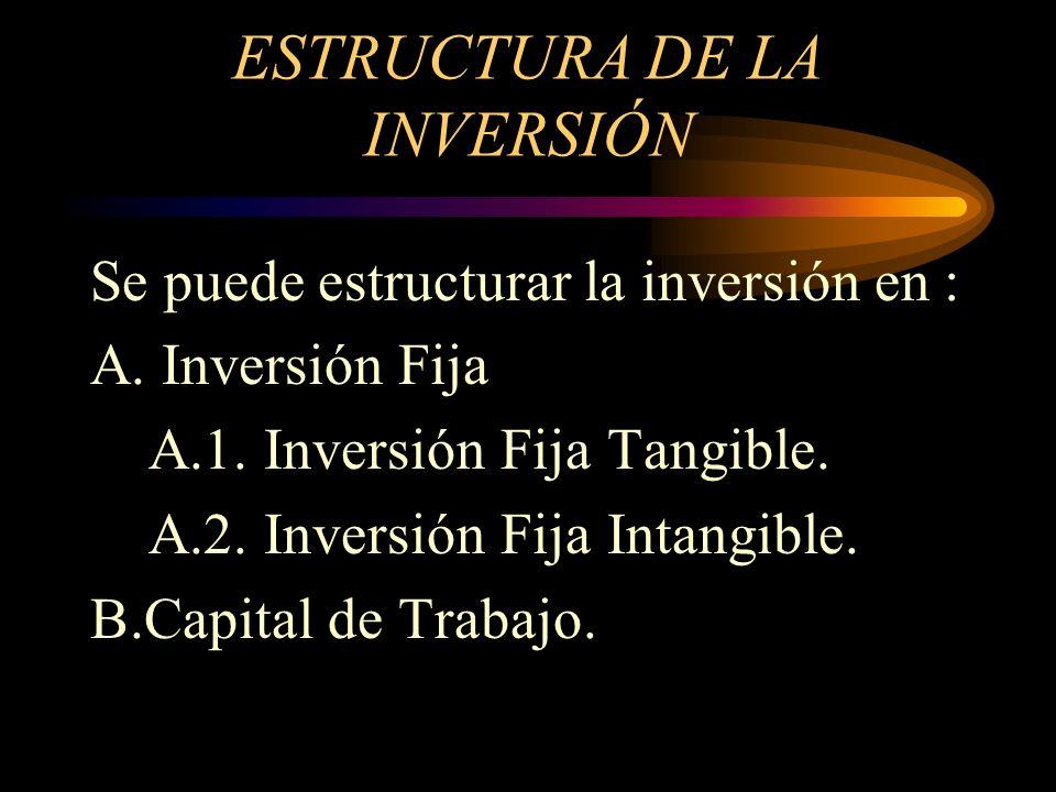 ESTRUCTURA DE LA INVERSIÓN