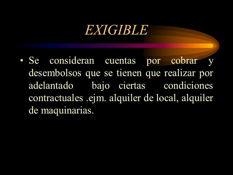 EXIGIBLE