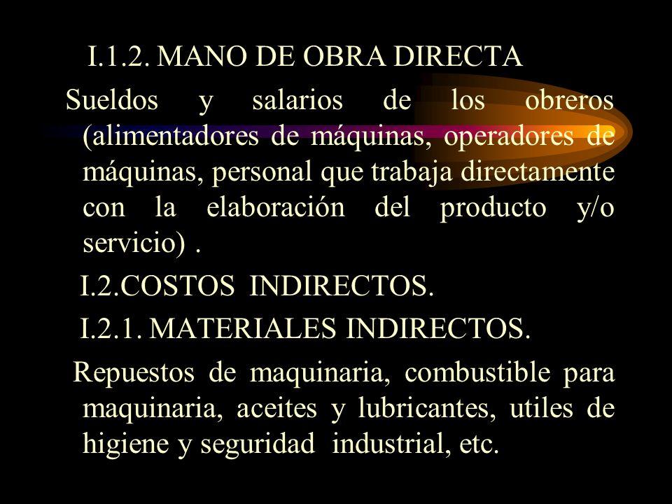 I.1.2. MANO DE OBRA DIRECTA