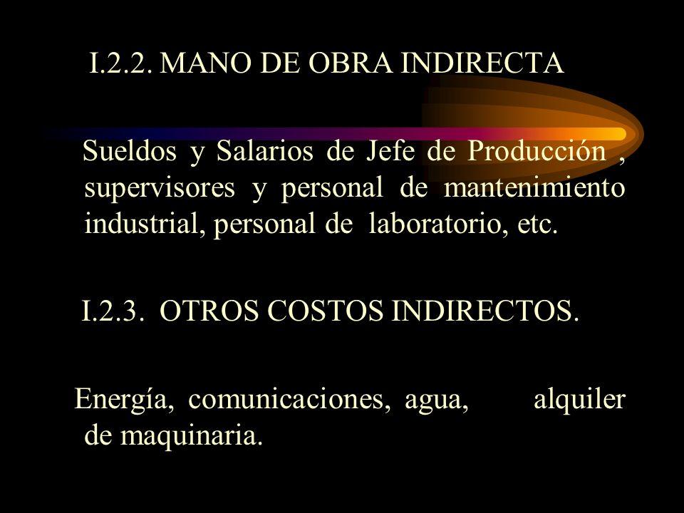 I.2.2. MANO DE OBRA INDIRECTA