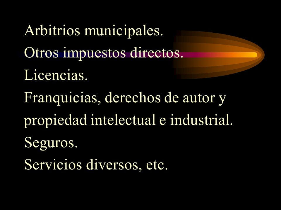 Arbitrios municipales.