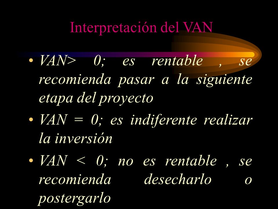 Interpretación del VAN