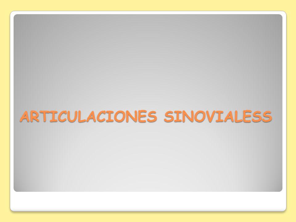 ARTICULACIONES SINOVIALESS