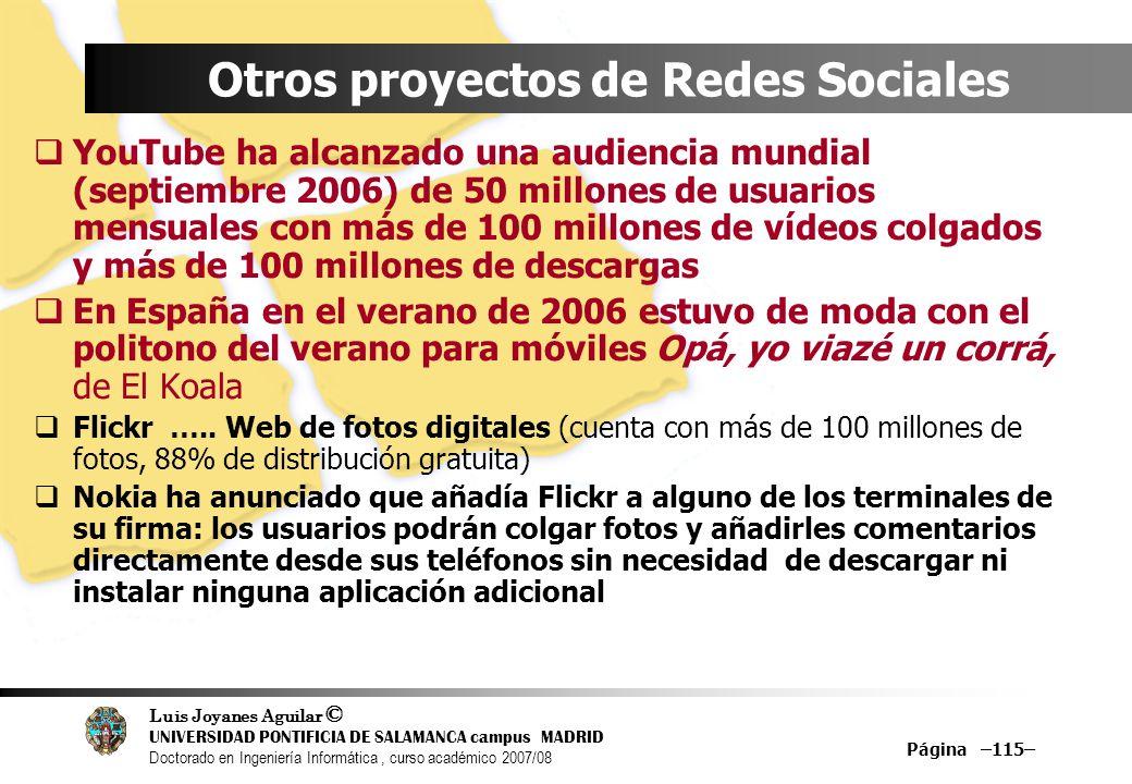 Otros proyectos de Redes Sociales