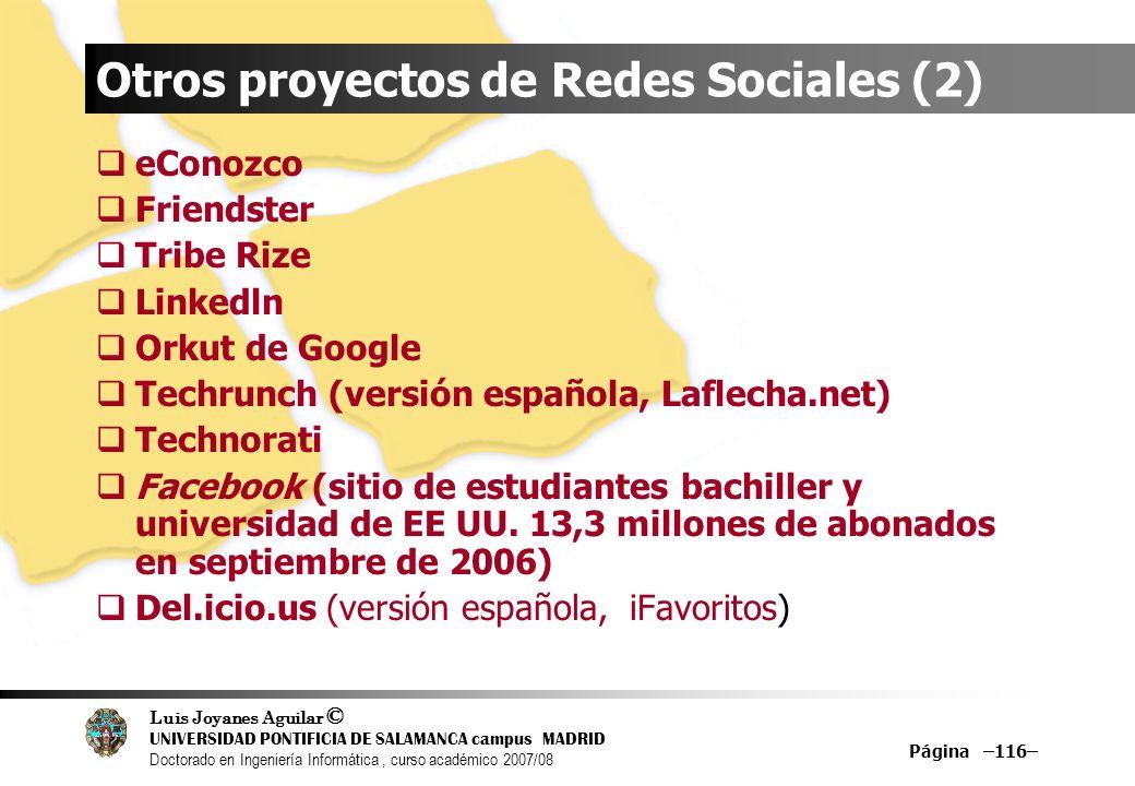 Otros proyectos de Redes Sociales (2)