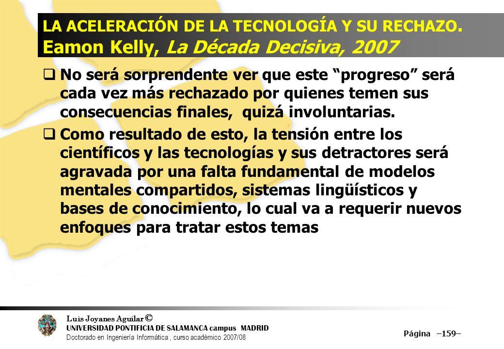 LA ACELERACIÓN DE LA TECNOLOGÍA Y SU RECHAZO