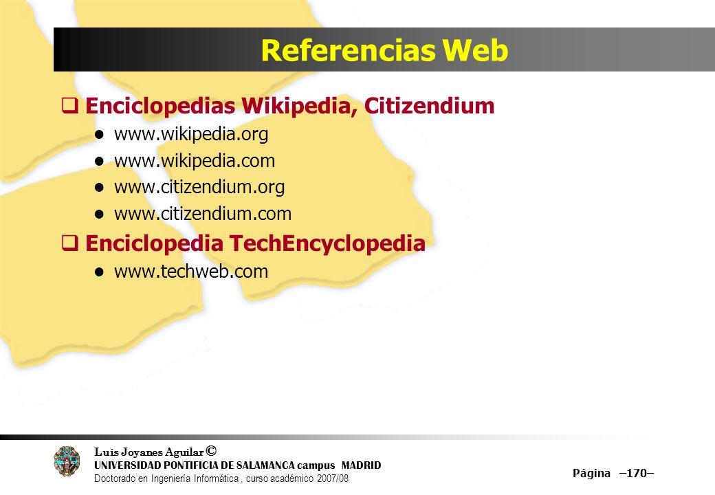 Referencias Web Enciclopedias Wikipedia, Citizendium