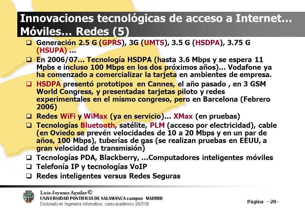 Innovaciones tecnológicas de acceso a Internet… Móviles… Redes (5)