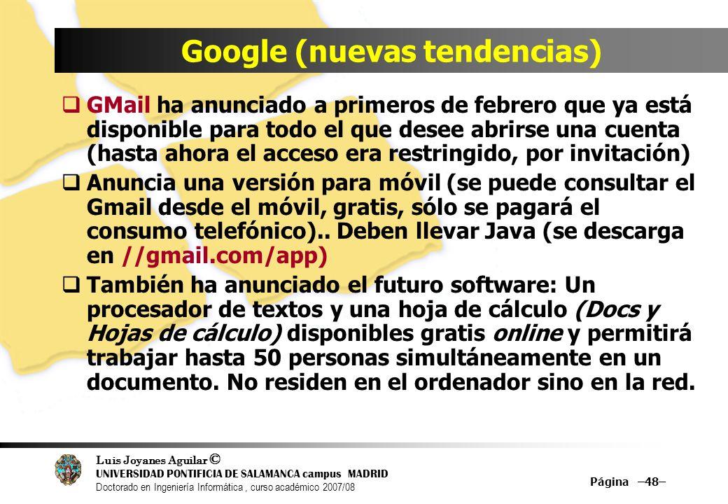 Google (nuevas tendencias)