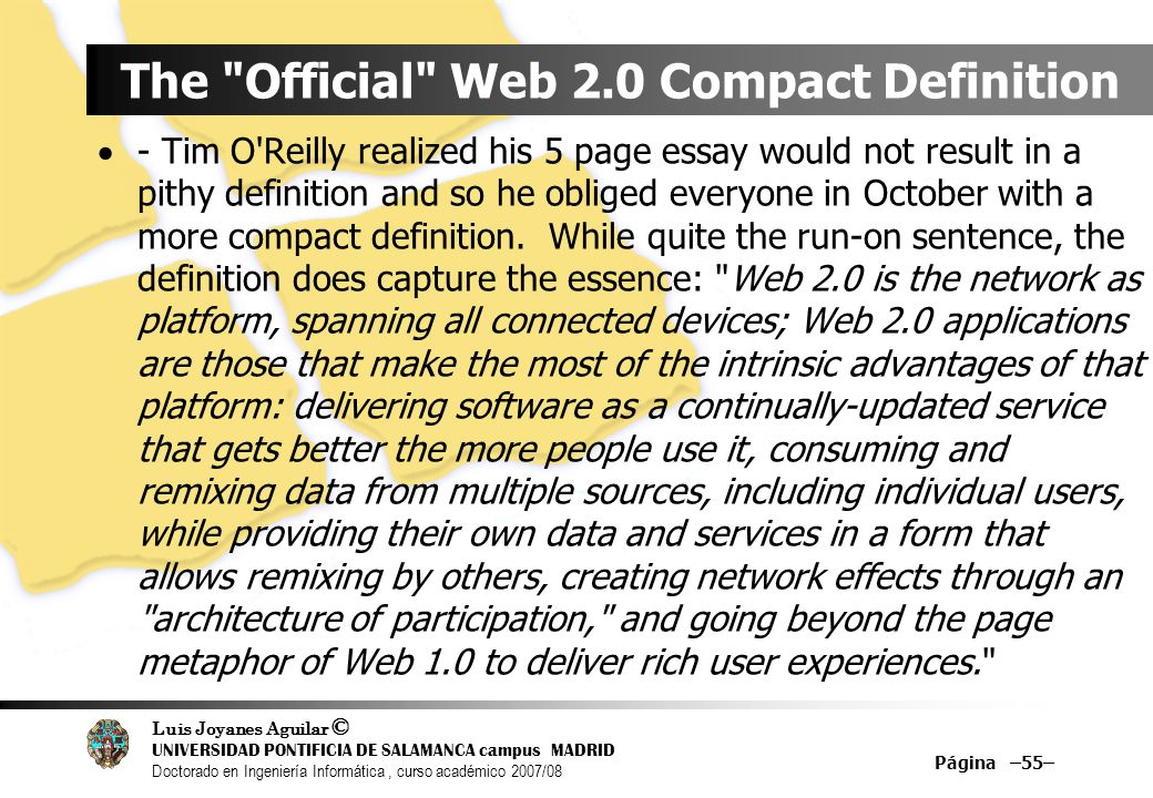 The Official Web 2.0 Compact Definition