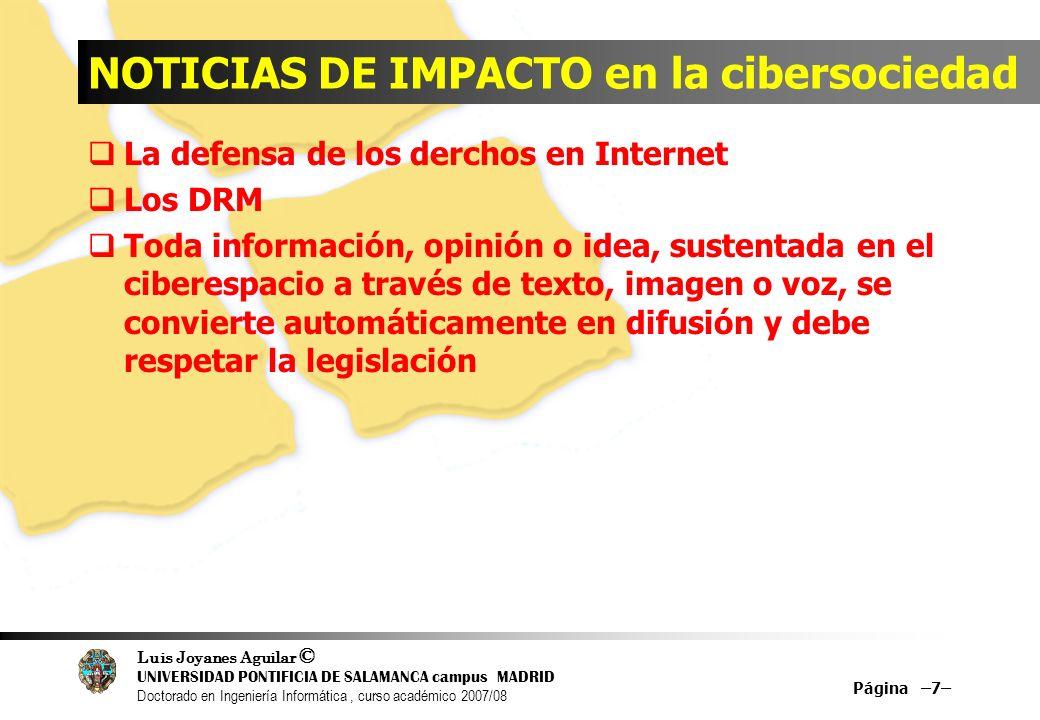 NOTICIAS DE IMPACTO en la cibersociedad