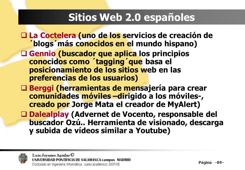 Sitios Web 2.0 españolesLa Coctelera (uno de los servicios de creación de ´blogs´más conocidos en el mundo hispano)