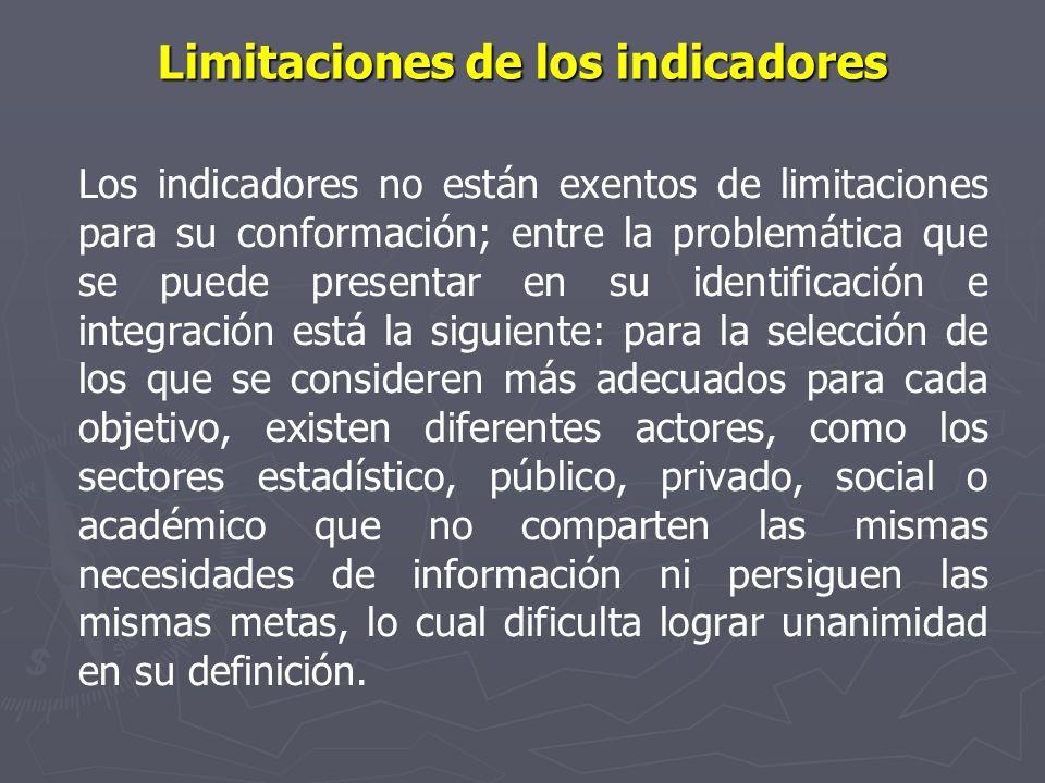 Limitaciones de los indicadores