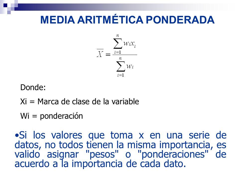 MEDIA ARITMÉTICA PONDERADA