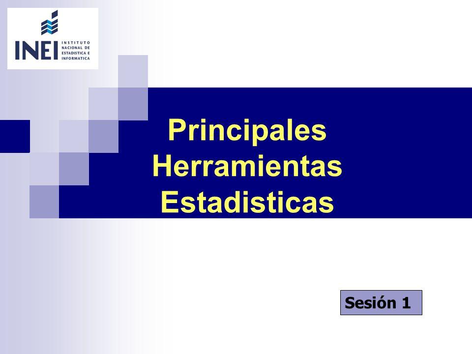 Principales Herramientas Estadisticas