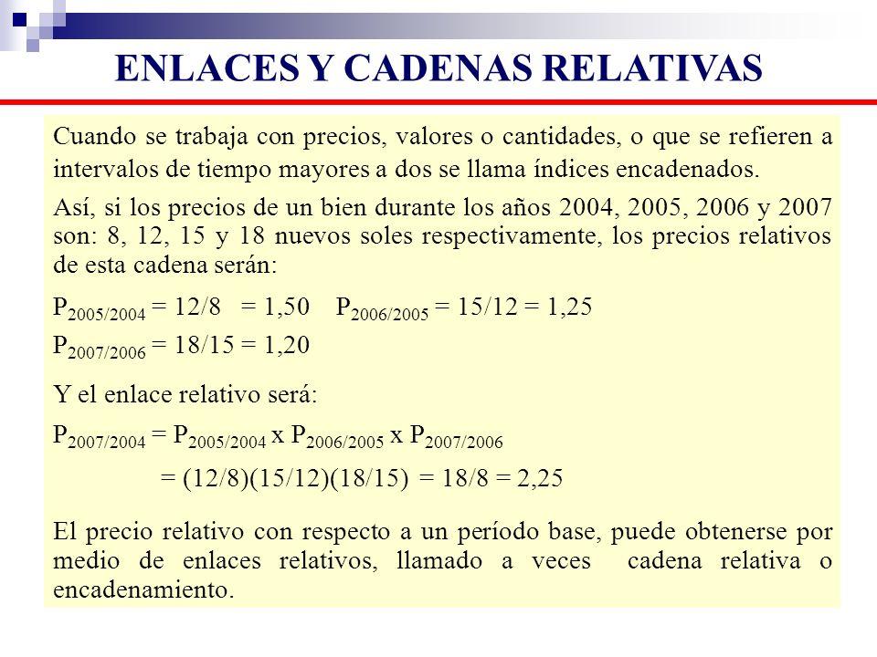 ENLACES Y CADENAS RELATIVAS