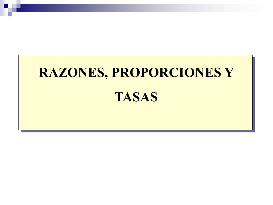 RAZONES, PROPORCIONES Y TASAS