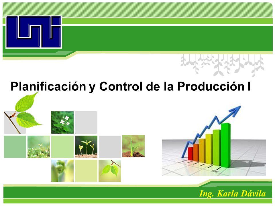 Planificación y Control de la Producción I