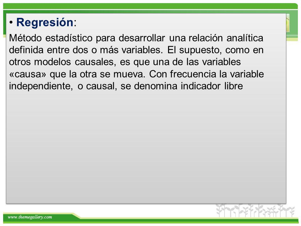 • Regresión: