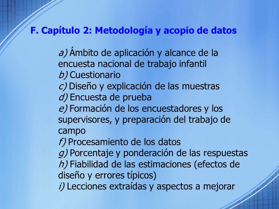 F. Capítulo 2: Metodología y acopio de datos