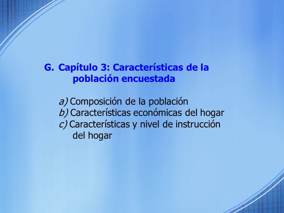 Capítulo 3: Características de la población encuestada