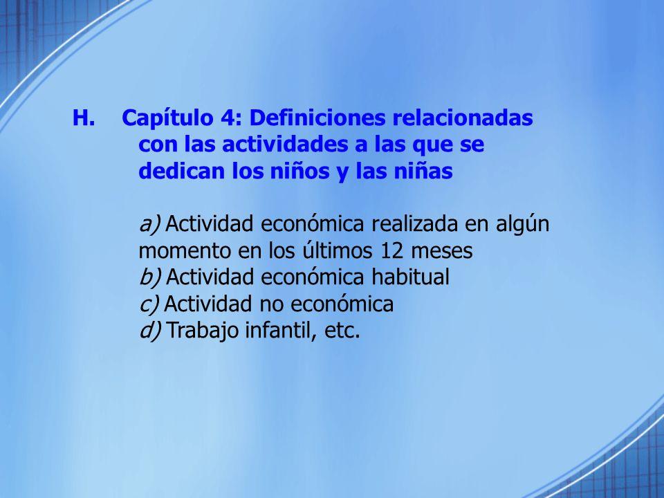 H. Capítulo 4: Definiciones relacionadas
