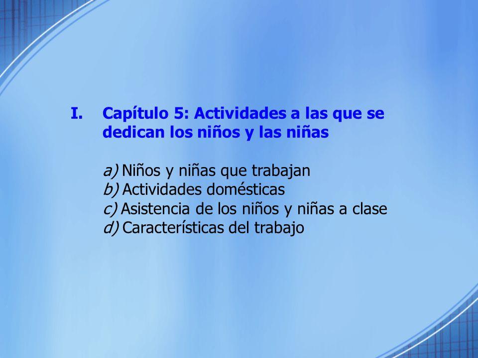 Capítulo 5: Actividades a las que se dedican los niños y las niñas